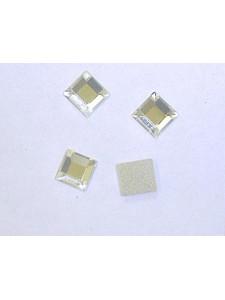Swar Square Glue-on Stone 6mm Clear Foil