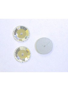 Swar Round Button 10mm Clear Foiled