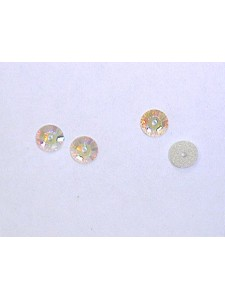 Swar Flat Round Stone with hole 5mm AB