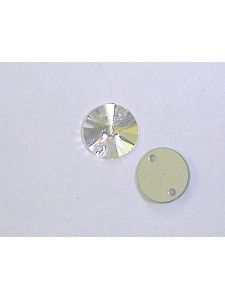 Swar Round Sew-on Stone Clear Foiled