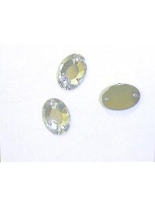 Swar Oval Sew-on 10x7 mm Clear F