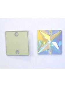 Swar Square Button 16mm AB Foiled