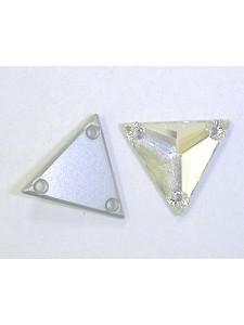 Swar Triangular Stone 16mm Clear Foiled