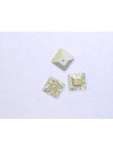 Swar Squ. Button 6mm Clear Mirror Foiled