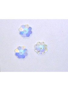 Swar Floral Button 8mm Clear AB Unfoiled