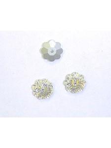 Swar Floral Button 8mm Clear Foiled
