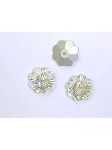 Swar Floral Button 10mm Clear Foiled