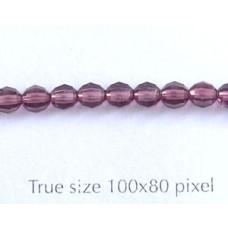 Swar Antiq.Style Bead 4mm Amethyst