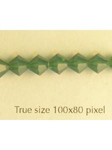 Swar Bi-cone 5mm Palace Green Opal