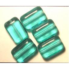 Tiffany Mini Chewy 12x8mm Aqua Green