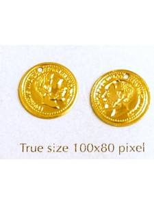 Aluminium Coin 12mm Gold Plated