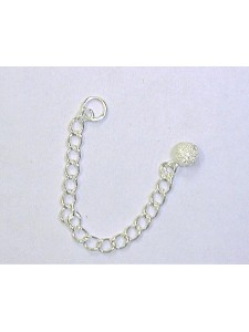 Extension Chain 2.5 w/4mm Stardust 925