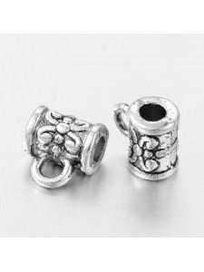 Charm hanger 5.5mm H2.5mm Anti Silver