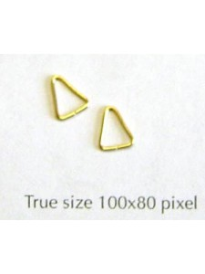 Jump Ring Triangle Gold plated