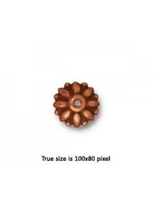 Bead Cap  10mm Dharma  Antique Copper