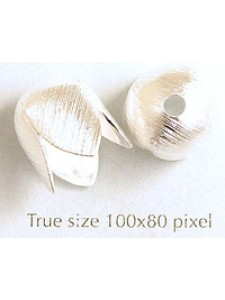 Bell Cap brushed 12mm w2.5mm hole SP