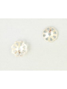 Bead Cap #105 8mm Silver plated
