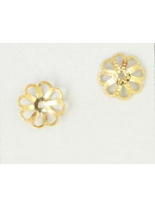 Bead Cap #106 11mm Gold plated