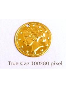 Aluminium Coin 18mm Gold Plated