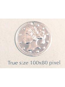 Aluminium Coin 18mm Silver Plated