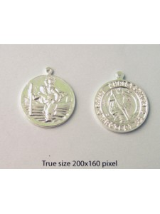 Coin 23mm St.Christopher w/ring Silv Pl.