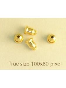 Earring Clutch Gold Pl Nickel Free -PAIR