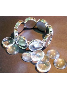 Acrylic Bracelet 20mm Round (with top)