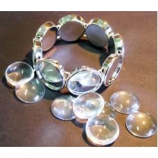 Acrylic Bracelet 20mm Round (with top)