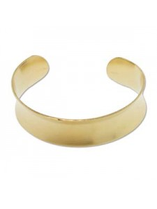 Brass Bracelet Cuff Concav 3/4 inch wide