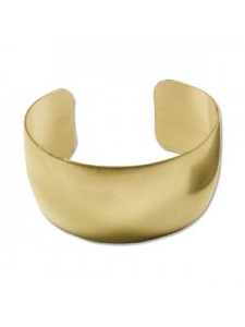 Brass Bracelet Cuff Flat 1inch wide