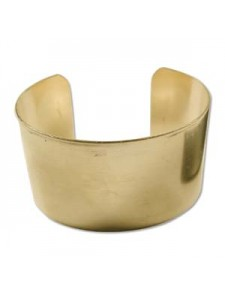 Brass Bracelet Cuff Flat 1 1/2 inch wide