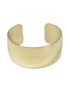 Brass Bracelet Cuff Domed 1inch wide