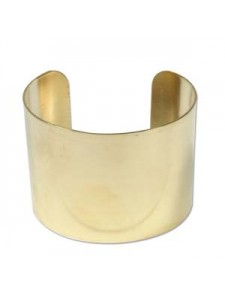 Braceler Cuff 2 inch wide RAW BRASS