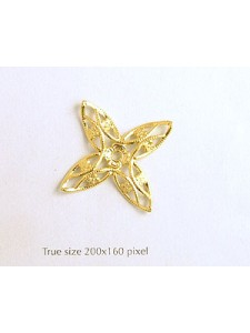 Domed Star 34mm Gold plated