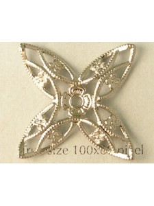 Domed Star 34mm Nickel plated