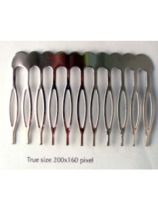Hair Comb Metal 60mm Nickel Plated