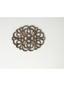 Filigree Oval Plate 35x27mm Black Nickel
