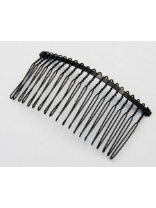 Hair Comb 37x77mm Black Nickel plate
