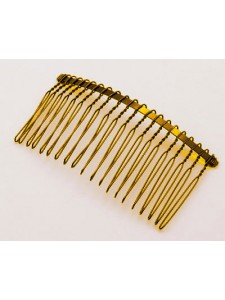 Hair Comb 37x77mm Gold colour
