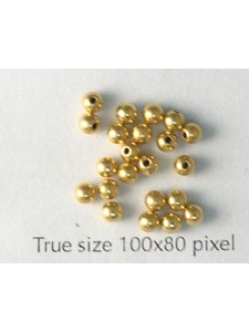 Memory Wire End Caps 3mm Gold Plated