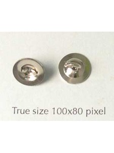 Keyring Button Nickel plated