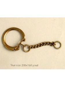 Keyring Chain Dark Gold Plated