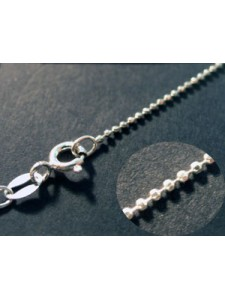 St.Silver 1mmBead Chain Diamond Cut 18in