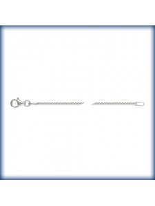 St.Silver Bead Chain 1.5mm 18inch