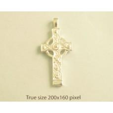 Charm St. Silver Celtic Cross 4.85gram