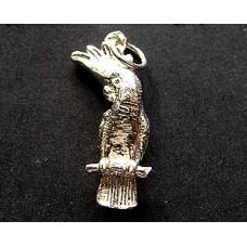 Charm St. Silver Cockatoo ~3 gram