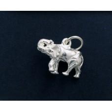 Charm St Silver Elephant Trunk up 2.1gr