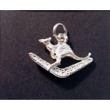 Charm St. Silver Boomerang & Kanga 1.39g