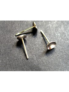 St.Silver Stud Post 5mm Cup - PAIR