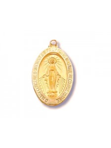 Charm Virgin Mary 9x12mm 14K Gold Filled